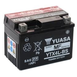 Batterie moto Yuasa 12V 3Ah sans entretien YTX4L-BS / GTX4L-BS