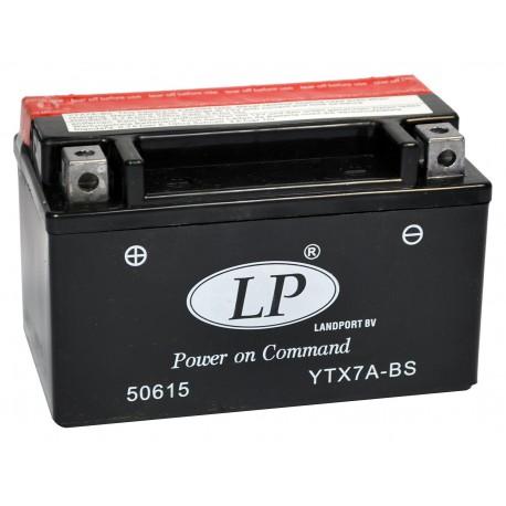 Batterie moto 12V 6Ah sans entretien YTX7A-BS / GTX7A-BS