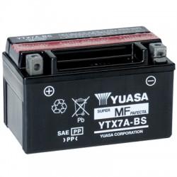 Batterie moto Yuasa 12V 6Ah sans entretien YTX7A-BS / GTX7A-BS