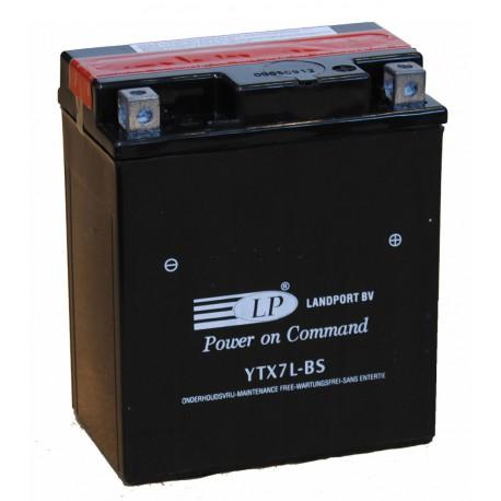 Batterie moto 12V 6Ah sans entretien YTX7L-BS / GTX7L-BS