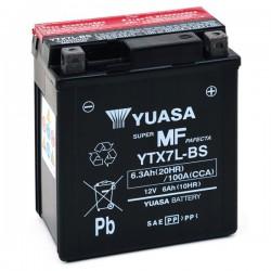 Batterie moto Yuasa 12V 6Ah sans entretien YTX7L-BS / GTX7L-BS