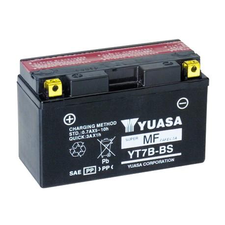 Batterie moto YUASA 12V 7Ah sans entretien YT7B-BS / GT7B-BS