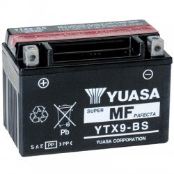 Batterie moto Yuasa 12V 8Ah sans entretien YTX9-BS / GTX9-BS