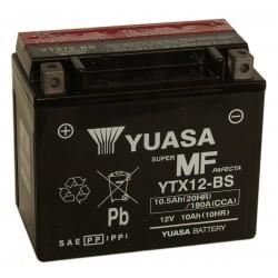 Batterie moto Yuasa 12V 10Ah sans entretien YTX12-BS / GTX12-BS