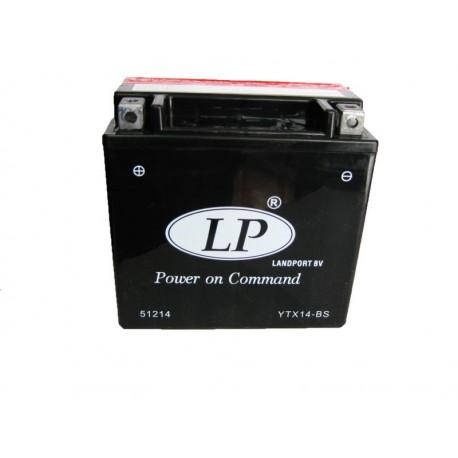 Batterie moto 12V 12Ah sans entretien YTX14-BS / GTX14-BS