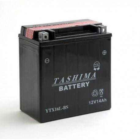 Batterie moto 12V 14Ah sans entretien YTX16L-BS / GTX16L-BS