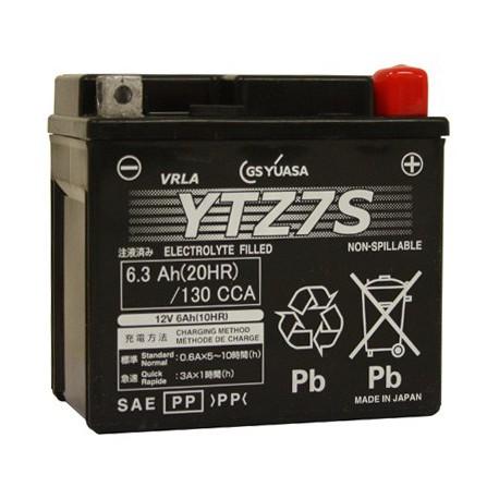 Batterie moto Yuasa 12V 6Ah Gel YTZ7S / GTZ7S