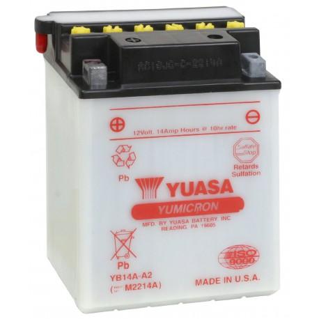 Batterie moto Yuasa Yumicron 12V / 14Ah avec entretien YB14A-A2