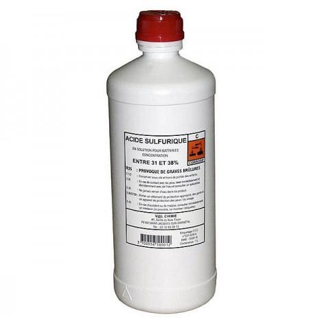 Bouteille d'acide pour batterie