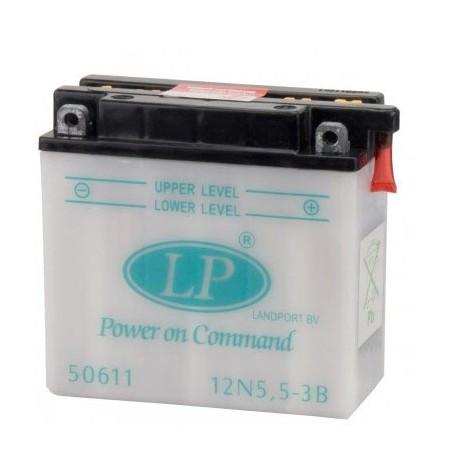 Batterie moto 12V / 5,5Ah avec entretien 12N5,5-3B