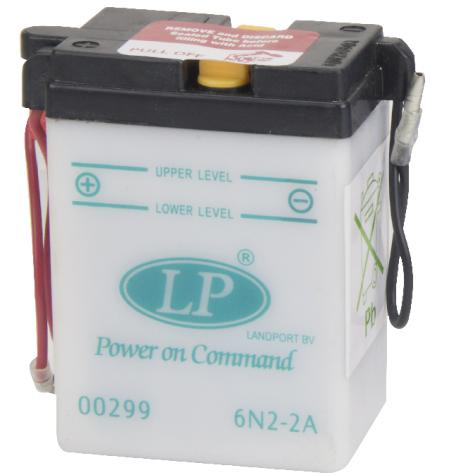 Batterie moto 6V / 2Ah avec entretien 6N2-2A