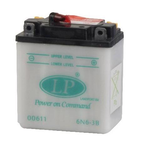 Batterie moto 6V / 6Ah avec entretien 6N6-3B