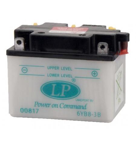 Batterie moto 6V / 8Ah avec entretien 6YB8L-B /6YB8-3B