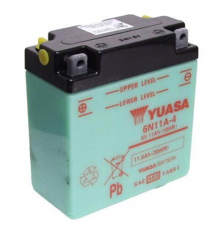 Batterie moto Yuasa 6V / 11Ah avec entretien 6N11A-4
