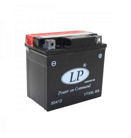Batterie moto 12V 4Ah sans entretien YTX5L-BS / GTX5L-BS