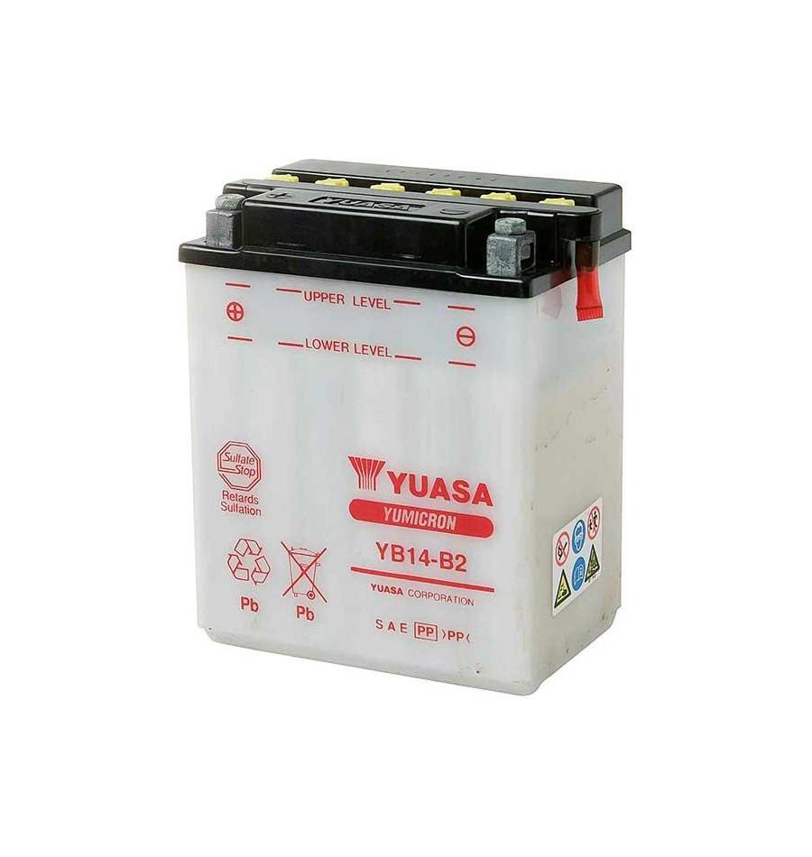 Batterie Yuasa Yb14 Yumicron 14ah Entretien Moto B2 Avec 12v hsQrxtCd