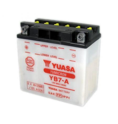 Batterie moto Yuasa Yumicron 12V / 8Ah avec entretien YB7-A