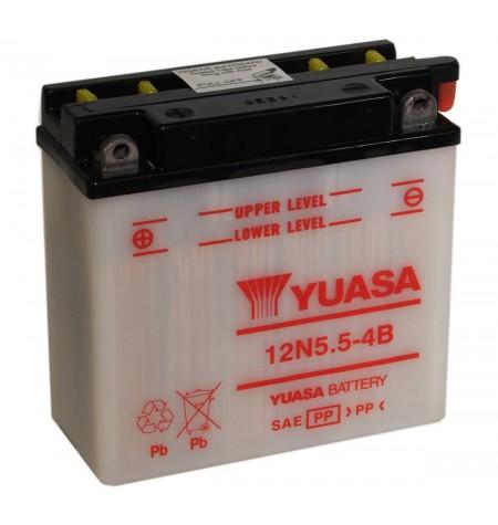 Batterie moto YUASA 12V / 5,5Ah avec entretien 12N5,5-4B