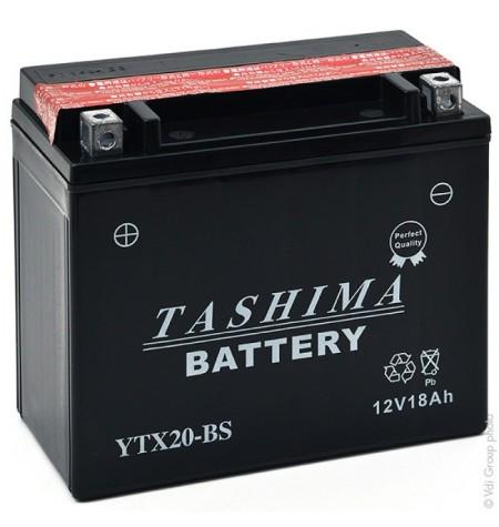 Batterie moto 12V 18Ah sans entretien YTX20-BS / GTX20-BS