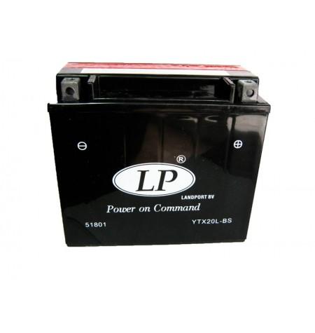 Batterie moto 12V 18Ah sans entretien YTX20L-BS / GTX20L-BS