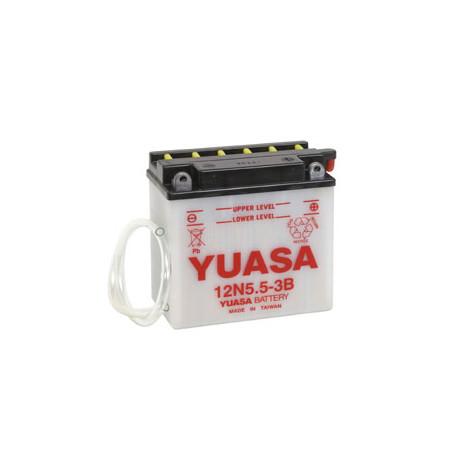 Batterie moto YUASA 12V / 5,5Ah avec entretien 12N5,5-3B