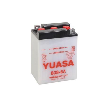 Batterie moto Yuasa 6V / 13Ah avec entretien B38-6A