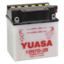 Batterie moto Yuasa 12V / 7Ah avec entretien 12N7D-3B
