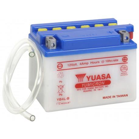 Batterie moto Yuasa Yumicron 12V / 4Ah avec entretien YB4L-B