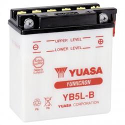 Batterie moto Yuasa Yumicron 12V / 5Ah avec entretien YB5L-B