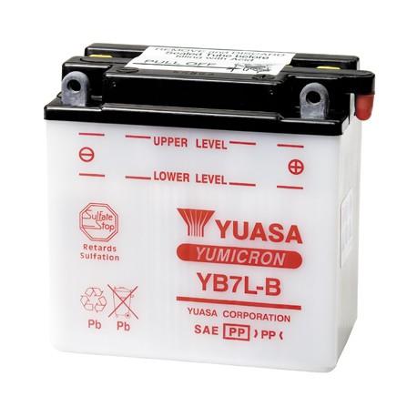 Batterie moto Yuasa Yumicron 12V / 8Ah avec entretien YB7L-B