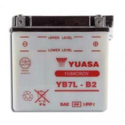 Batterie moto Yuasa Yumicron 12V / 8Ah avec entretien YB7L-B2