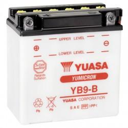 Batterie moto Yuasa Yumicron 12V / 9Ah avec entretien YB9-B