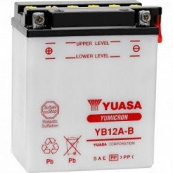 Batterie moto Yuasa Yumicron 12V / 12Ah avec entretien YB12A-B