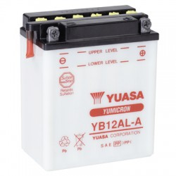 Batterie moto Yuasa Yumicron 12V / 12Ah avec entretien YB12AL-A