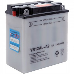 Batterie moto renforcée 12V / 12Ah avec entretien YB12AL-A2