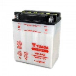 Batterie moto Yuasa Yumicron 12V / 14Ah avec entretien YB14-A2
