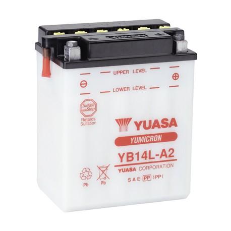 Batterie moto Yuasa Yumicron 12V / 14Ah avec entretien YB14L-A2